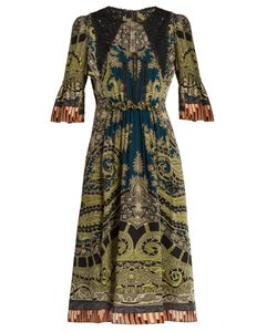 Etro | Lace-Insert Paisley And Graphic-Print Dress