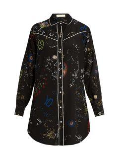 Valentino | Astrocouture-Print Silk Crepe De Chine Shirt