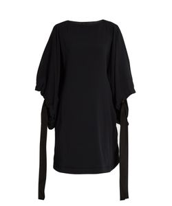Marni | Cuff-Tie Batwing-Sleeved Cady Tunic Dress