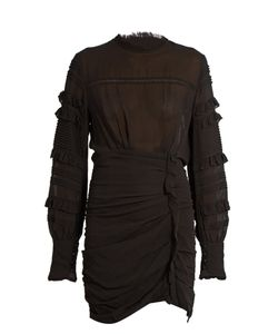 Isabel Marant | Qods Ruched Stretch Silk-Blend Dress