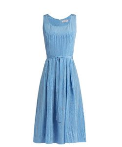 HVN | Jordan Heart-Print Sleeveless Dress