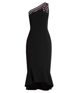 Peter Pilotto | One-Shoulder Embroidered Cady Dress