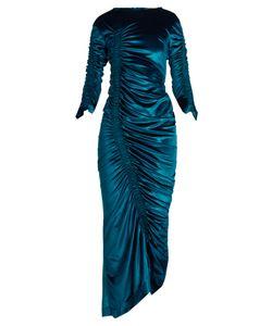 Preen by Thornton Bregazzi | Hitch Round-Neck Ruched Velvet Dress