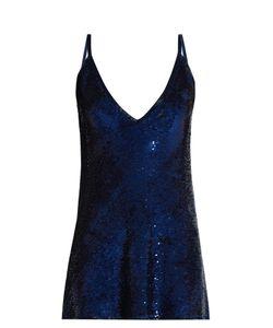 Ashish | Sequin-Embellished Plunging Silk Mini Dress