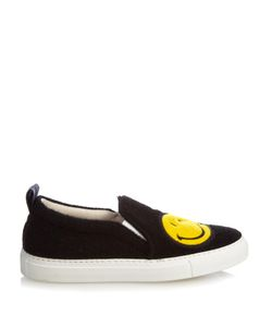 Joshua Sanders | Smiley Felt Slip-On Trainers