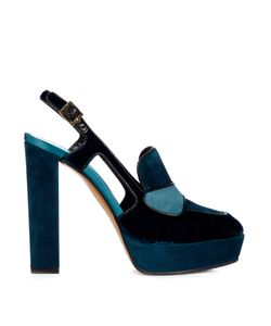 Etro | Velvet And Suede Platform Pumps