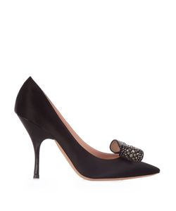 Rochas | Bow-Embellished Satin Pumps