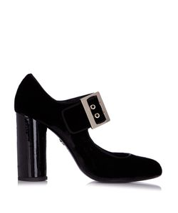 Lanvin | Buckle-Detail Velvet Pumps