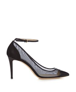 Jimmy Choo | Tower 85mm Leather And Mesh Pumps