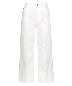 Stella McCartney | High-Rise Wide-Leg Cropped Jeans