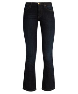 The Great | The Nerd High-Rise Cropped Kick-Flare Jeans