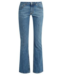 Alexander McQueen | Mid-Rise Flared Cropped Jeans