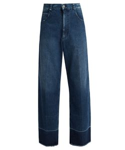 Rachel Comey | Legion Frayed-Edge Wide-Leg Jeans