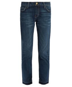 Current/Elliott | The Cropped Mid-Rise Straight-Leg Jeans