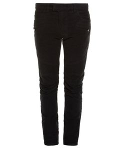 Balmain | Biker Striped-Side Skinny Jeans