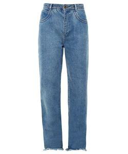 Chloé | Frayed-Hem Wide-Leg Jeans