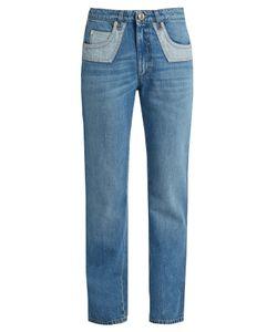 Sonia Rykiel | Bi-Colour Pockets Straight-Leg Jeans