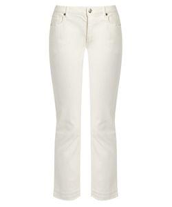 Nili Lotan | Mott Raw-Hem Stretch-Cotton Cropped Jeans