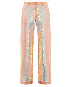 Ashish | Sequin-Embellished Wide-Leg Jeans
