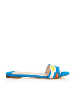 Peter Pilotto | Geometric Suede Flat Sandals