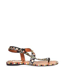 Valentino | Hand-Painted Leather Flat Sandals