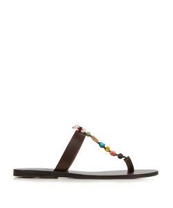 Ancient Greek Sandals | Iris Stones Leather Sandals