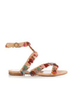 Chloé | Liz Tassel-Embellished Suede Sandals