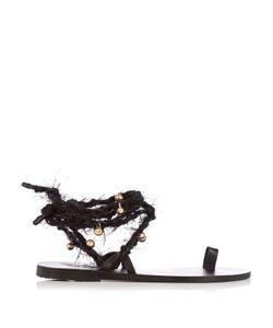 Ancient Greek Sandals | Clotho Embellished Leather Sandals