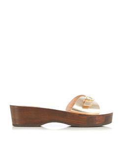 Ancient Greek Sandals | Filla Sabot Leather Flatform Sandals