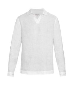 Orlebar Brown | Ridley Long-Sleeved Linen Shirt