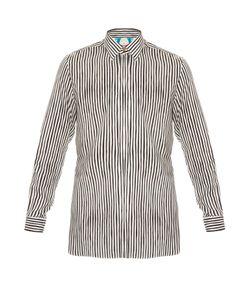 Paul Smith | Point-Collar Striped Cotton-Blend Shirt