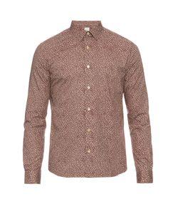 Paul Smith | Kensington Micro-Lip Print Cotton Shirt