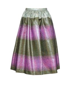Marco de Vincenzo | Metallic-Striped Midi Skirt