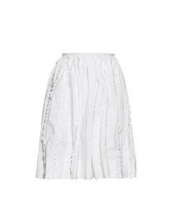 Rochas | Ruffle-Trimmed High-Waisted Skirt