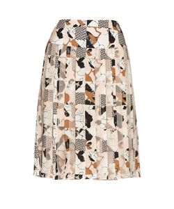Oscar de la Renta | Graphic-Print Pleated Skirt