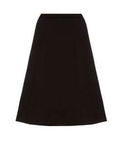 Oscar de la Renta | A-Line Brushed-Wool Midi Skirt