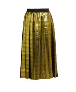 Muveil | Metallic Pleated Skirt