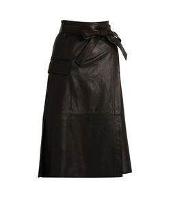 Helmut Lang | Leather Wrap Skirt