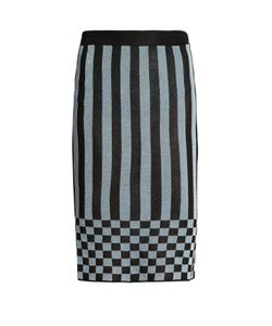 House Of Holland | Striped-Knit Pencil Skirt