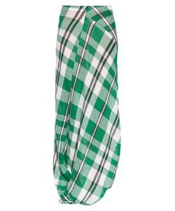 Stella McCartney | Drape-Hem Checked-Print Maxi Skirt
