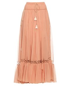 Chloé | Silk-Crepon Drawstring Maxi Skirt