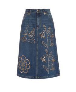RED Valentino | Stud-Embellished Midi Skirt