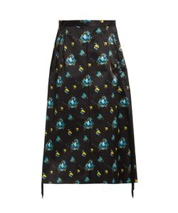 Toga | Floral-Print A-Line Midi Skirt