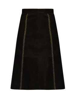 Vanessa Bruno | Falga Suede A-Line Skirt