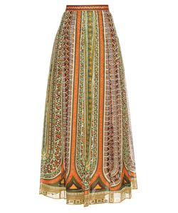 Valentino | Tribal Ribbon-Print Cotton-Muslin Maxi Skirt