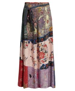 By Walid | Nadine Floral-Print Silk Maxi Skirt