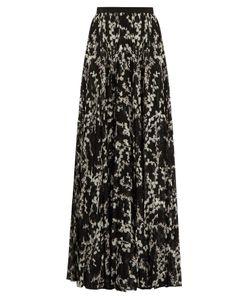 Giambattista Valli | Floral-Print Pleated Silk Maxi Skirt