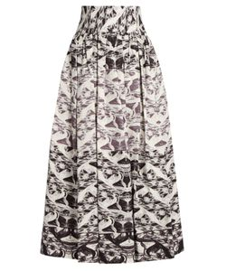 Sophie Theallet | Yue Pleated Silk-Mikado Skirt