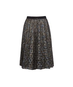 Marc Jacobs | Metallic Floral-Brocade Pleated Skirt