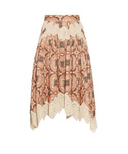 Zimmermann | Empire Konya-Print Linen Skirt